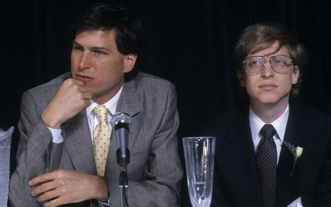 Steve Jobs e Bill Gates em 1984
